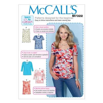 Top, McCalls 7322 | 32-40
