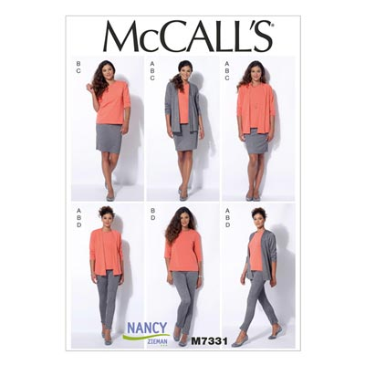 Jacke/Top/Rock/Hose, McCalls 7331 | 32-40