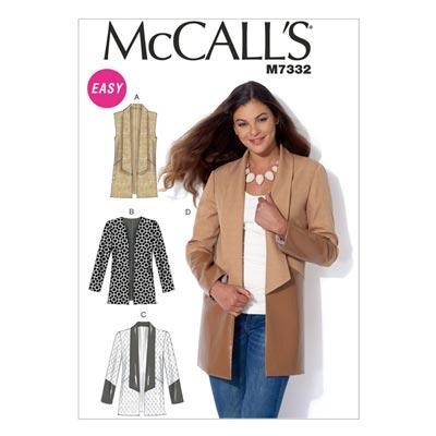 Weste/Jacke, McCalls 7332 | 42-50