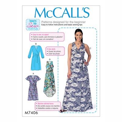 Kleid/Gürtel , McCalls 7406 | 32 - 40