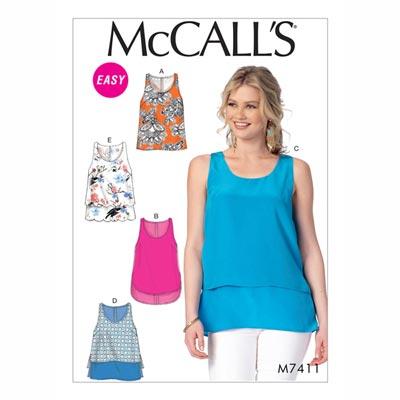Top , McCalls 7411 | 42 - 52