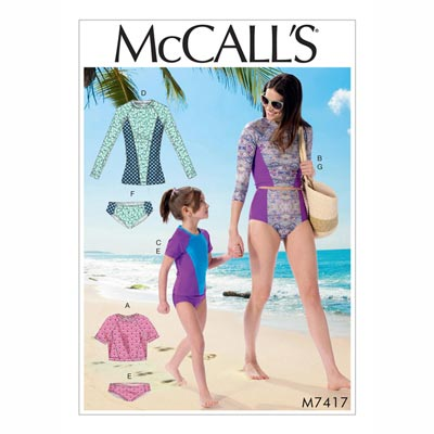 Badebekleidung, McCalls 7417 | 34 - 48