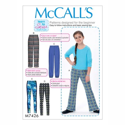 Leggings, McCalls 7426 | 140 - 158