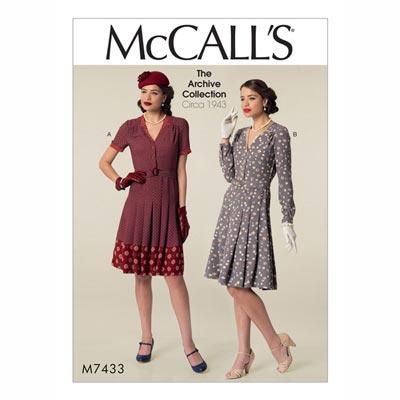 Kleid, McCalls 7433 | 32 - 40