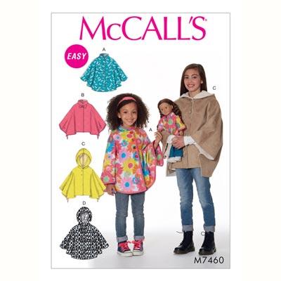 Mädchen-Poncho, McCalls 7460 | 94 - 122