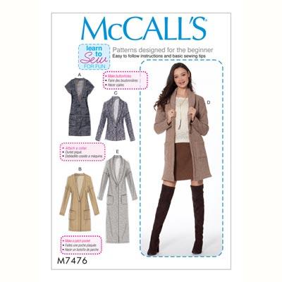 Jacke, McCalls 7476 | 42 - 50