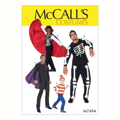 Kostüm - Skelett/Vampir, McCalls 7494 | 104 - 134