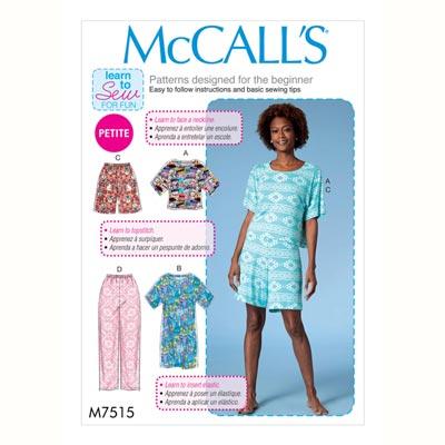 Schlafanzug - Top/Hose, McCalls 7515 | 30 - 40