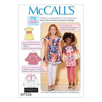 Mädchen-Top, McCalls 7526 | 104 – 122