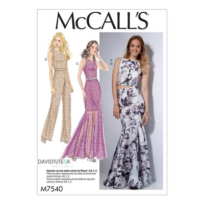 Jumpsuit / Kleid / Rock, McCalls 7540 | 40 - 48