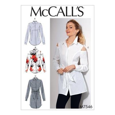 Top, McCalls 7546 | 40 - 48