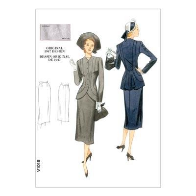 Kostüm - Vintage 1947, Vogue 1019 | 32 - 38