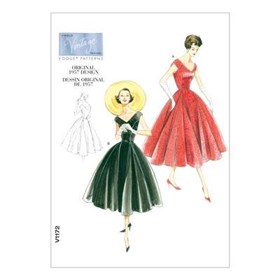 Kleid - Vintage 1957, Vogue 1172 | 32 - 38