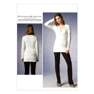 Top/Hose by Donna Karan, Vogue 1378 | 30 - 38