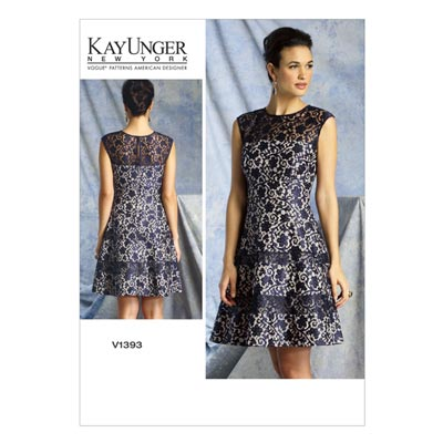 Kleid by Kay Unger, Vogue 1393 | 32 - 40