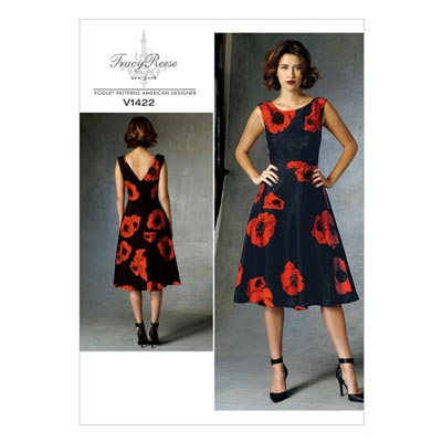 Kleid by Tracy Reese, Vogue 1422 | 32 - 40