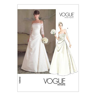 Brautkleid, Vogue 2842 | 32 - 36