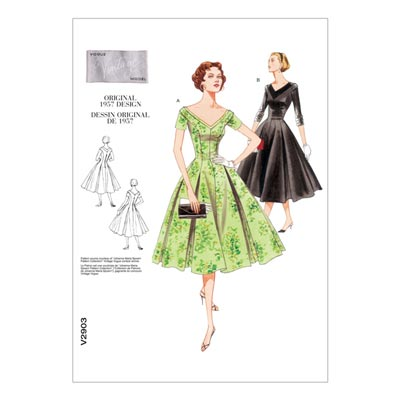 Kleid - Vintage 1957, Vogue 2903 | 32 - 36