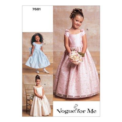 Ballkleider für Mädchen, Vogue 7681 | 128 - 138