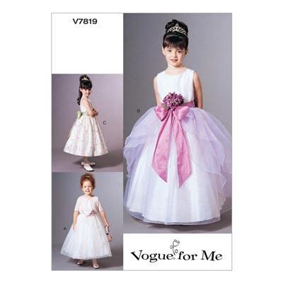 Ballkleider mit Jäckchen für Mädchen, Vogue 7819 |