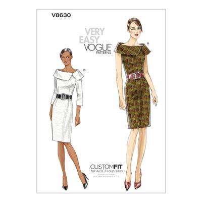 Kleid, Vogue 8630 | 32 - 38