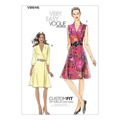 Kleid, Vogue 8646 | 40 - 48