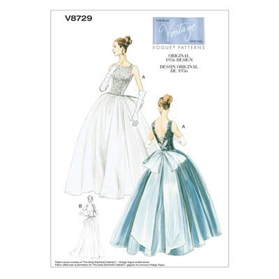 Ballkleid - Vintage 1956, Vogue 8729 | 40 - 46