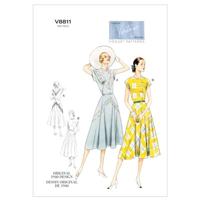 Kleid/Gürtel, Vogue 8811 | 30 - 38