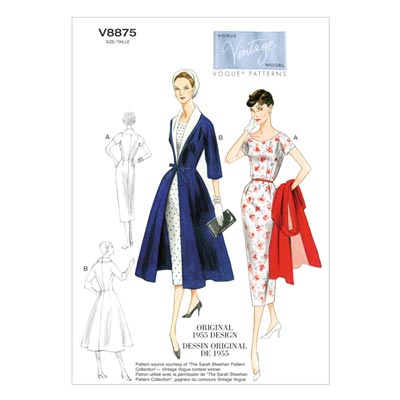 Mantel/Kleid/Gürtel, Vogue 8875 | 34 - 42