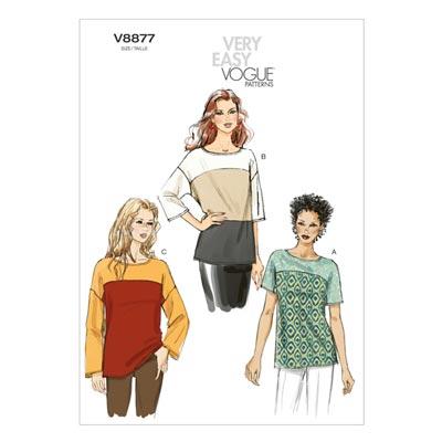 Tops, Vogue 8877 | 32 - 40