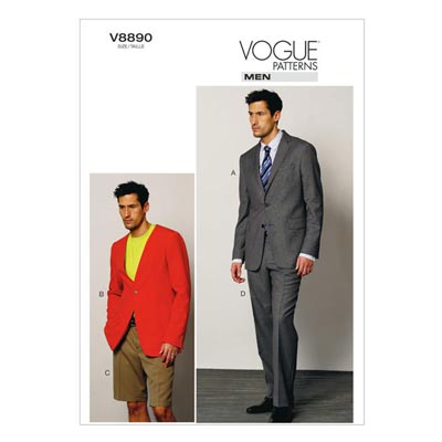 Anzug: Jacke / Shorts / Hose, Vogue V8890