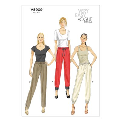 Sweatpant, Vogue 8909 | 32 - 40