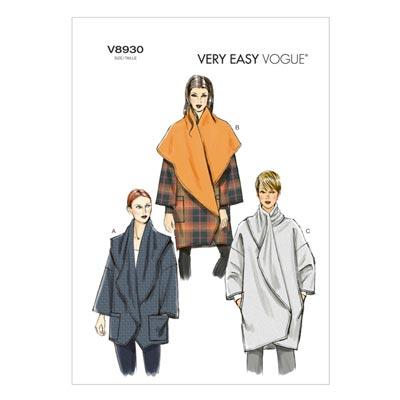 Mantel/Jacke, Vogue 8930 | 32 - 40