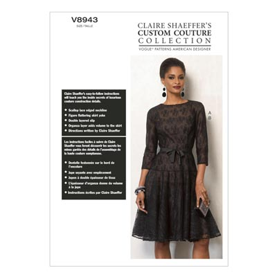 Kleid/Unterkleid by Claire Shaeffer´s, Vogue 8943