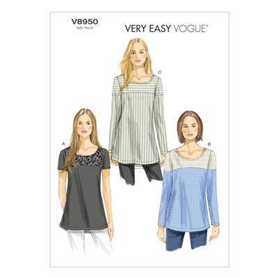 Tops, Vogue 8950 | 40 - 48