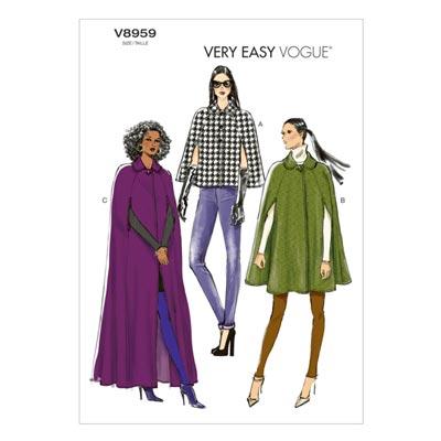 Capes, Vogue 8959 | 42 - 50