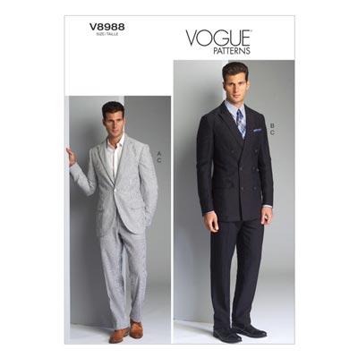 Anzug: Blazer/Hose, Vogue 8988 | 50 - 56