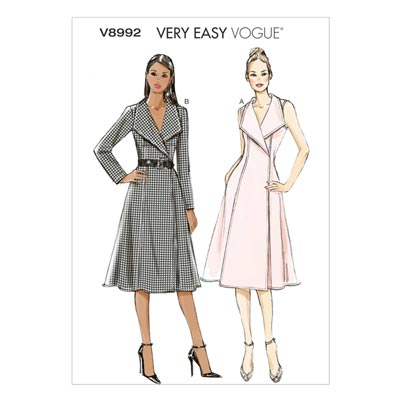 Wickelkleid, Vogue 8992 | 34 - 42