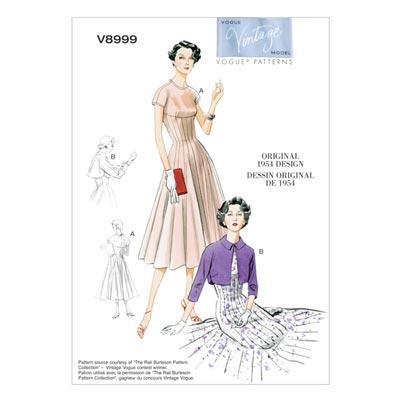 Kleid/Bolero, Vogue 8999 | 32 - 40