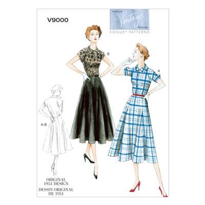 Kleid/Gürtel, Vogue 9000 | 34 - 42