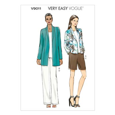 Jacke/Shorts/Hose, Vogue 9011 | 32 - 40