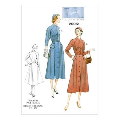 Kleid -Vintage 1951, Vogue 9051 | 34 - 42