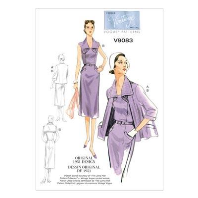 Jacke / Gürtel / Kleid, Vogue V9083
