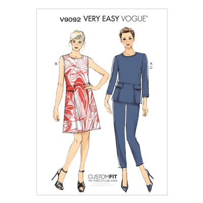 Top / Kleid / Hose, Vogue V9092