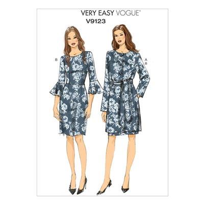Jacke / Gürtel / Kleid, Vogue 9123