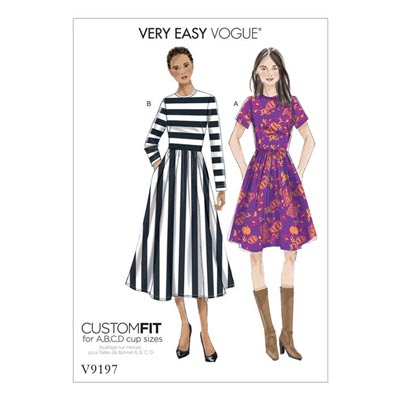 Kleid, Vogue 9197 | 32 - 40