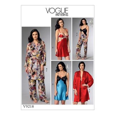 Nachtwäsche, Vogue 9218 | 32 - 40