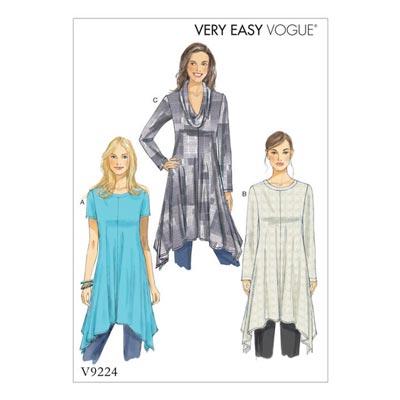 Tops, Vogue 9224 | 42 - 52