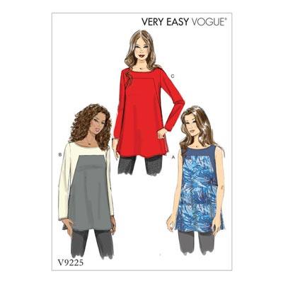 Tops, Vogue 9225 | 32 - 40