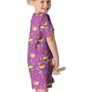 Tecidos para crianças com cogumelos